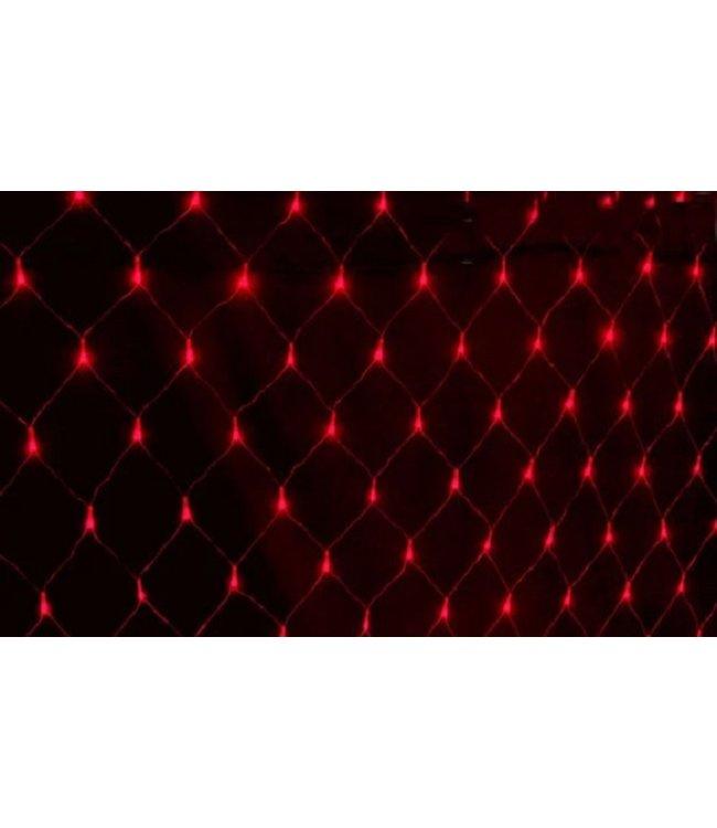 Kerstnet - 2 x  3 meter - Rood