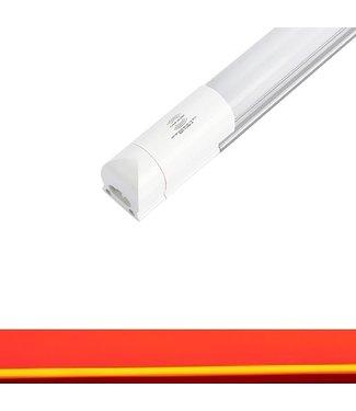 TL LED Buis Rood - Met bewegingssensor - 18 Watt - 120 cm - Met Armatuur