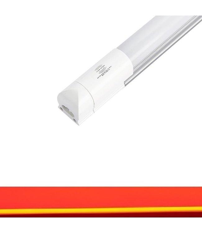 TL LED Buis Rood - Met bewegingssensor - 24 Watt - 150 cm - Met Armatuur