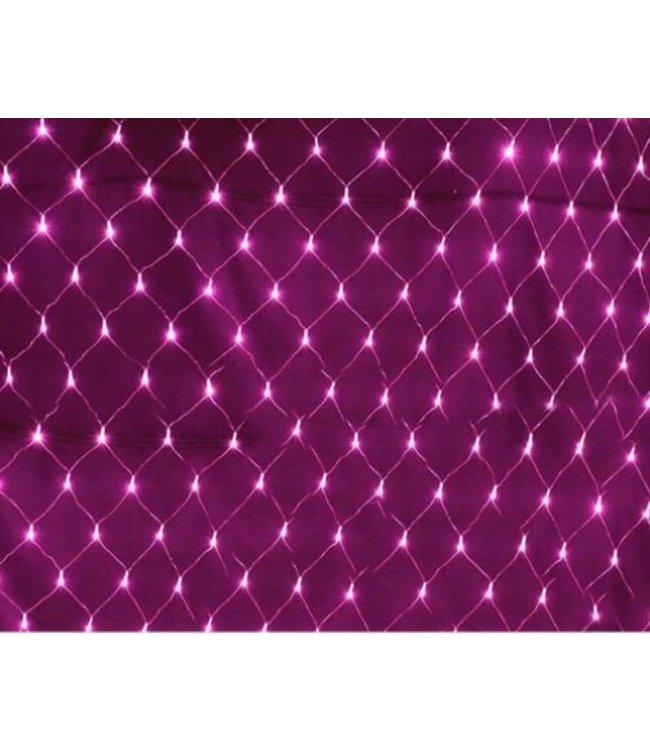 Kerstnet 4 x  6 Meter - Roze