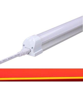 TL LED Buis Rood - 14 Watt - 90 cm - Met Armatuur