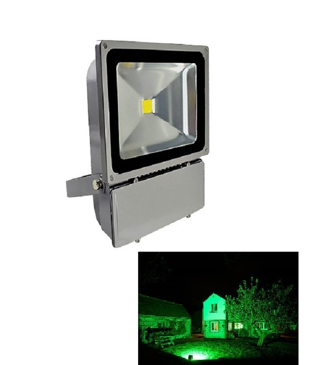 LED Bouwlamp Groen - 100 Watt