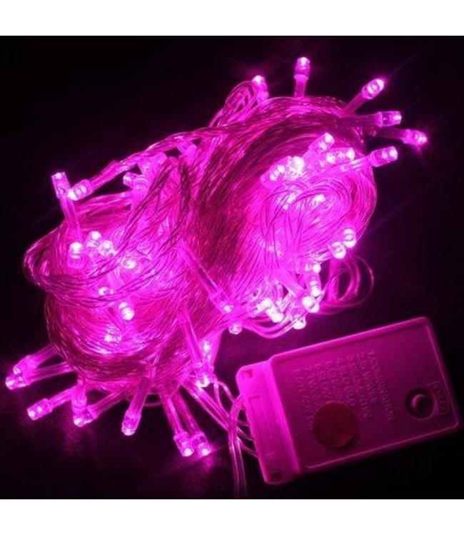 Kerstboomverlichting - 50 Meter - Roze