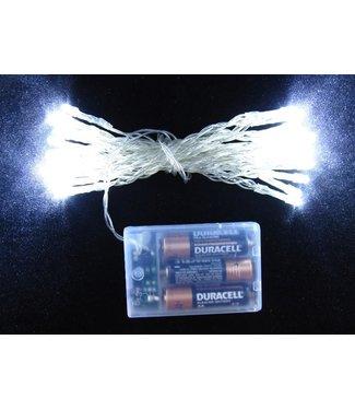 Kerstverlichting 2 Meter - Koel Wit - Op Batterij