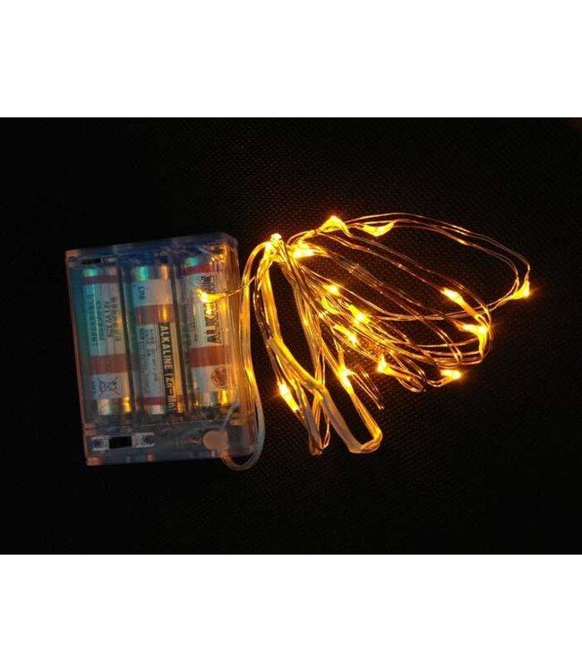 Kerstverlichting 2 Meter - Warm Wit - Op Batterij