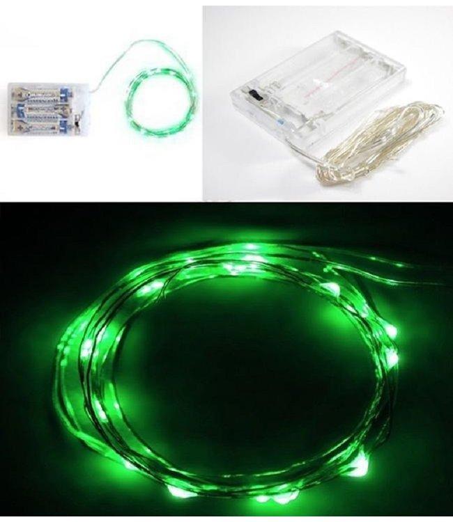 Kerstverlichting 2 Meter - Groen - Op Batterij