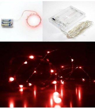 Kerstverlichting 10 Meter - Rood - Op Batterij