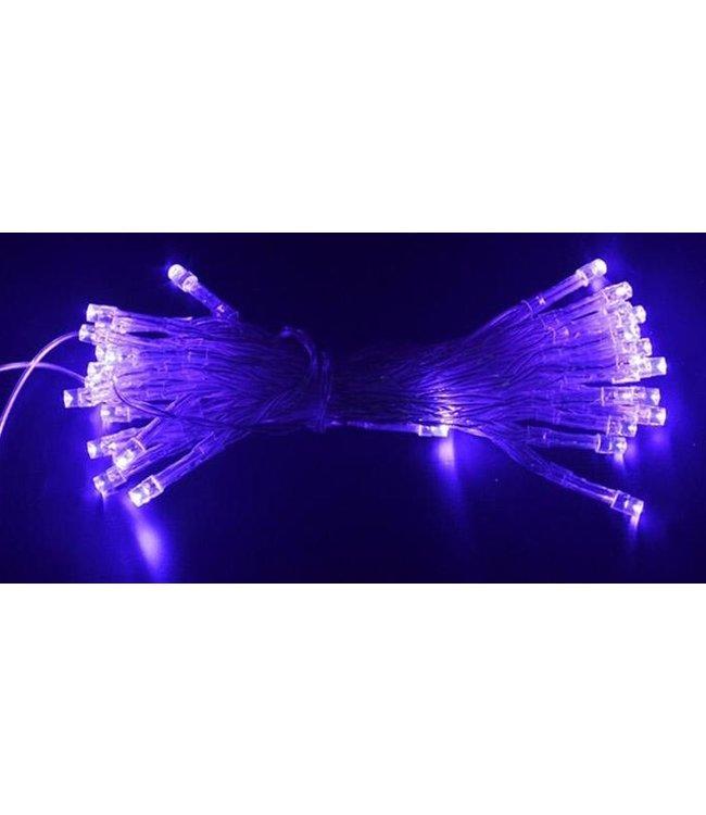 Kerstverlichting 10 Meter - Paars - Op Batterij