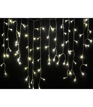 Kerst Gordijn 4 Meter - Koel Wit
