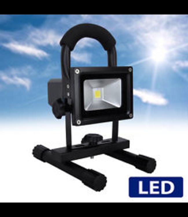 LED Bouwlamp - 10 Watt  - Oplaadbaar - Werktijd 6 Uur -  Puur Wit