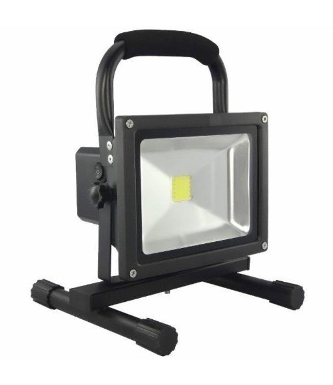 LED Bouwlamp - 20 Watt  - Oplaadbaar - Werktijd 3 Uur -  Koel Wit