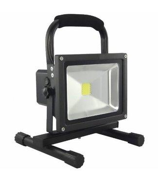 LED Bouwlamp - 20 Watt  - Oplaadbaar - Werktijd 6 Uur -  Warm Wit