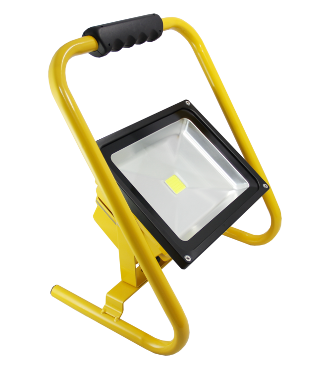 LED Bouwlamp - 30 Watt  - Oplaadbaar -  Koel Wit