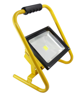 LED Bouwlamp - 50 Watt  - Oplaadbaar -  Koel Wit