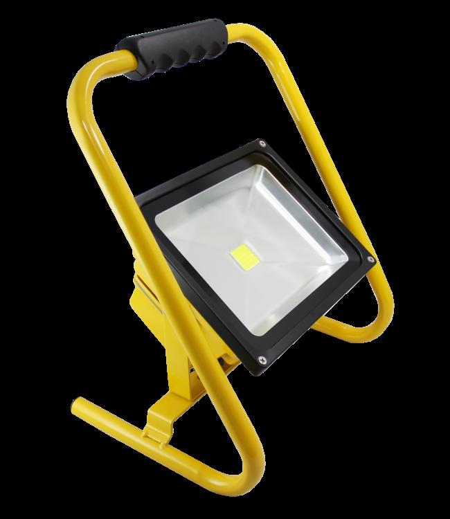LED Bouwlamp - 50 Watt  - Oplaadbaar - Puur Wit