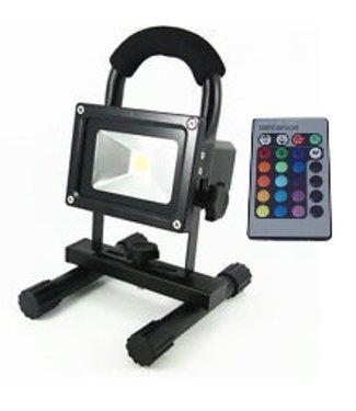 LED Bouwlamp - 10 Watt  - Oplaadbaar - RGB