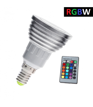 LED Spot RGB + Koel Wit - 3 Watt - E14