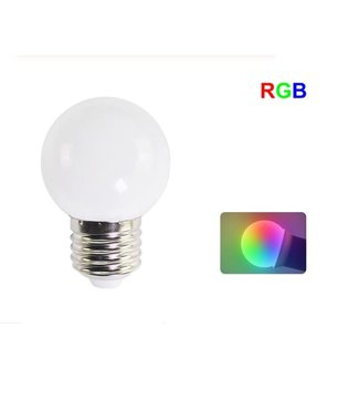 LED Bollamp E27 - 1 Watt - RGB