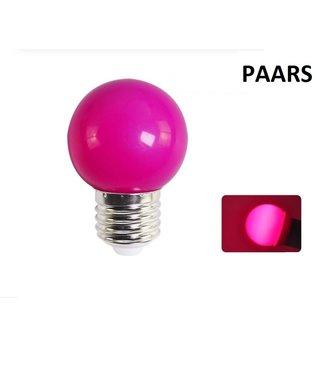 LED Bollamp E27 - 2 Watt - Paars