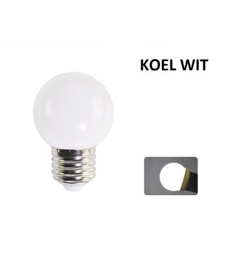 LED Bollamp E27 - 2 Watt - Koel Wit