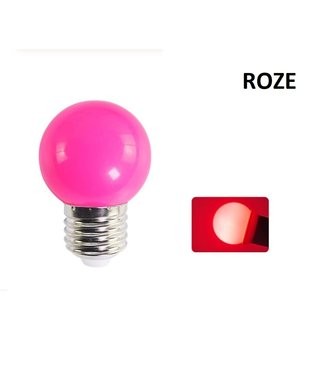 LED Bollamp E27 - 2 Watt - Roze