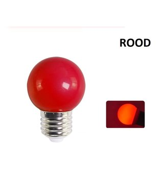 LED Bollamp E27 - 2 Watt - Rood