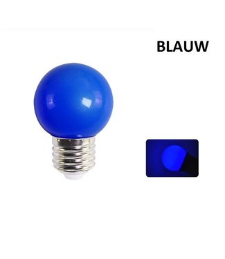 LED Bollamp E27 - 2 Watt - Blauw