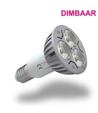 LED Spot Puur Wit - 3 Watt - E14 - Dimbaar