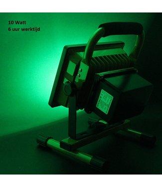 LED Bouwlamp - 10 Watt  - Oplaadbaar - Werktijd 6 Uur -  Groen