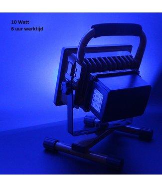 LED Bouwlamp - 10 Watt  - Oplaadbaar - Werktijd 6 Uur -  Blauw