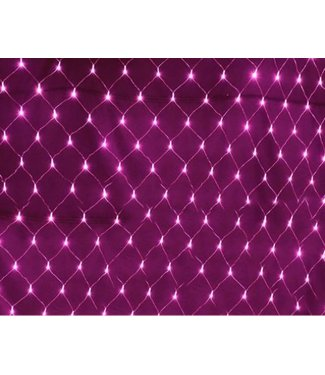 Kerstnet 2 x  3 Meter - Roze