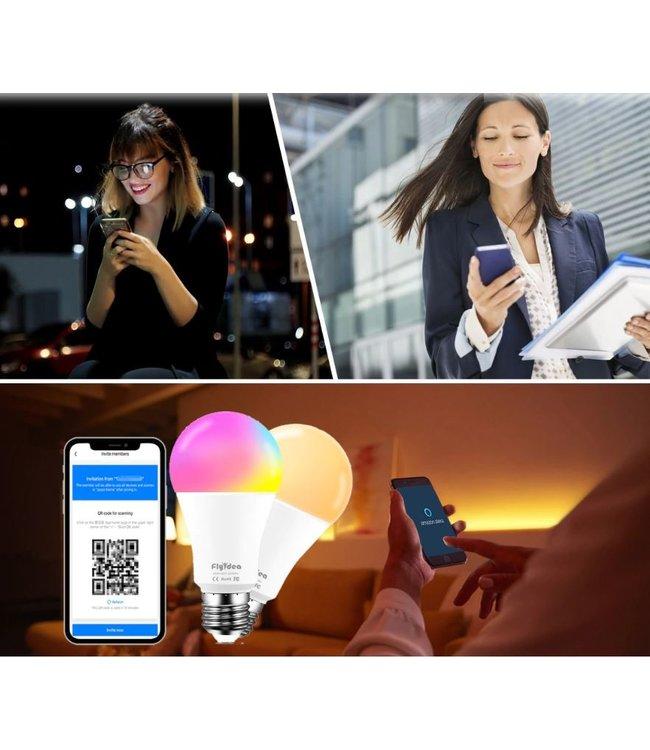 Slimme Lamp RGB+CCT - E27 - 7 Watt - Multifunctioneel