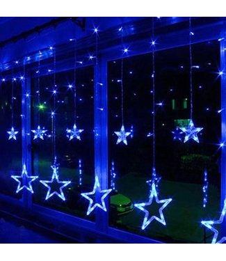 Kerst Gordijn Ster 2 Meter - Blauw