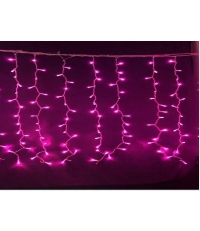 Kerst Gordijn 4 Meter - Roze
