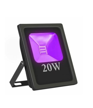 LED Bouwlamp Blacklight  - 20 Watt - Plat