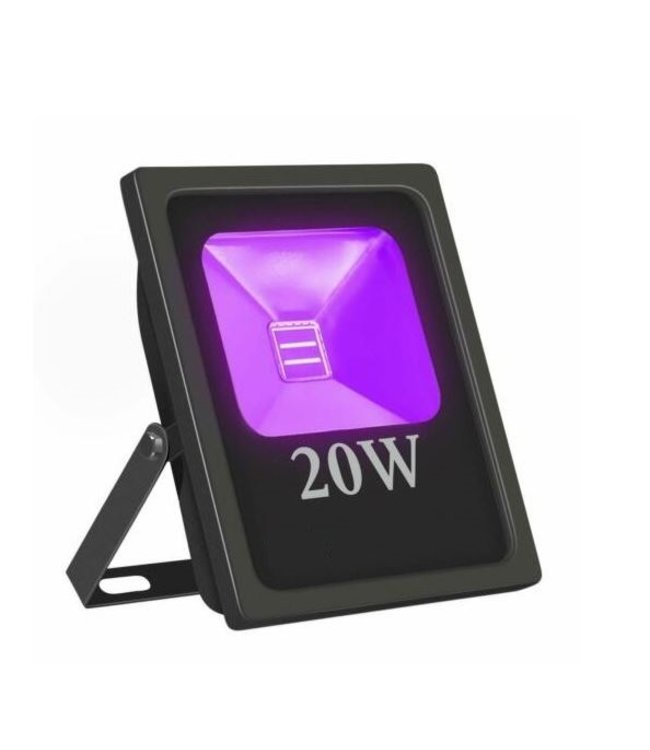LED Bouwlamp Blacklight  - 20 Watt - Plat