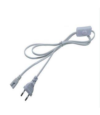 Kabel - 1 Meter - Met Stekker - Met (aan/uit) Schakelaar - LED TL - Met Armatuur
