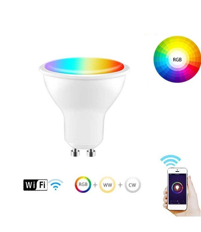 Slimme WIFI LED Spot - RGB - 4 Watt - GU10
