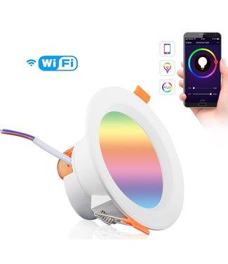Slimme WIFI LED Inbouwspot - RGB - 9 Watt