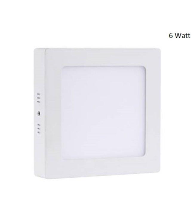 LED Paneel Vierkant Opbouw - 6 Watt - Puur Wit