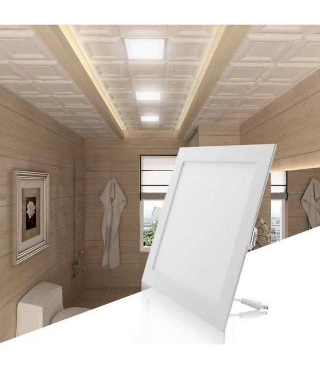 LED Paneel Vierkant Inbouw - 6 Watt - Warm Wit