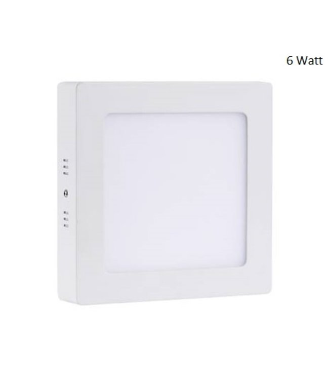 LED Paneel Vierkant Opbouw - 15 Watt - Warm Wit