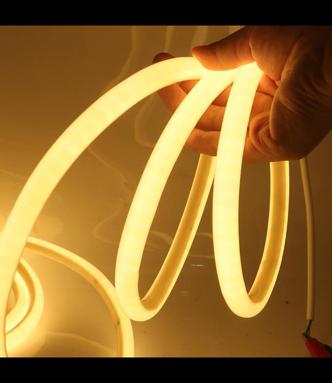 Neon LED Strip - Warm Wit - 10 Meter - Waterdicht