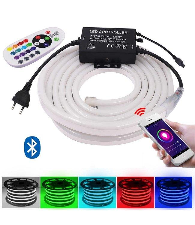 Neon LED Strip - RGB - 5 Meter - Waterdicht - Bluetooth