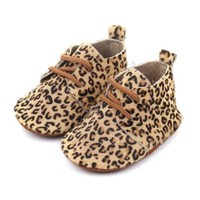 Baby Mocassins Leather Leopard