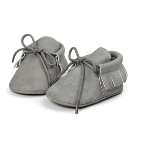 This Cuteness Baby Mocassins Leather Light Grey