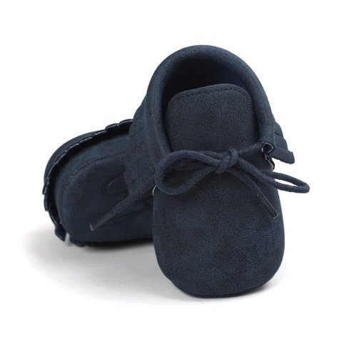 This Cuteness Baby Mocassins Leather Dark Blue