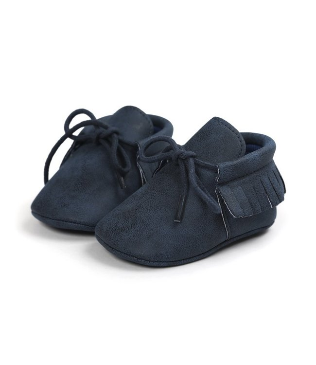 This Cuteness Baby Mocassins Leather Dark Blue
