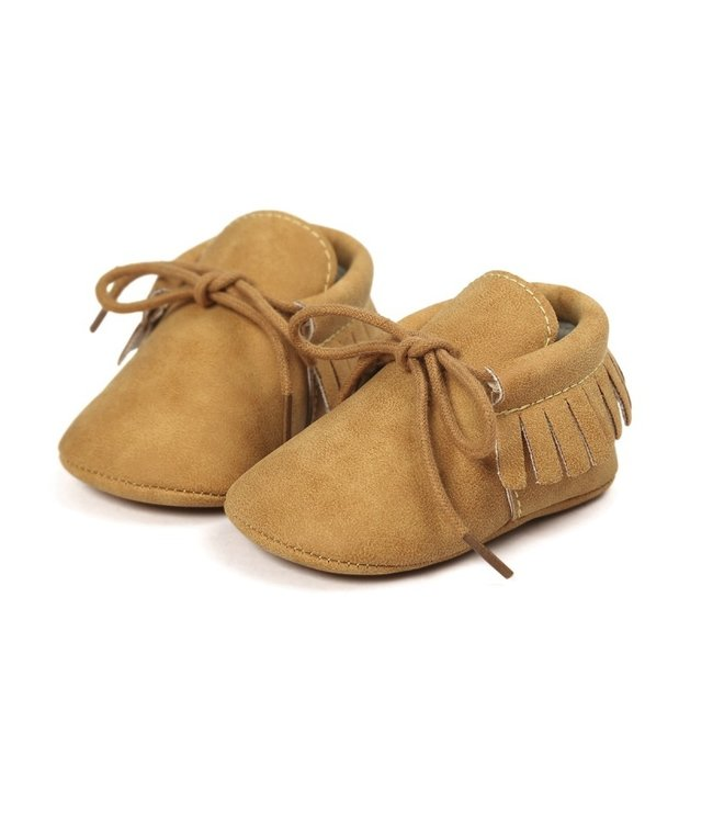 This Cuteness Baby Mocassins Leather Ocher