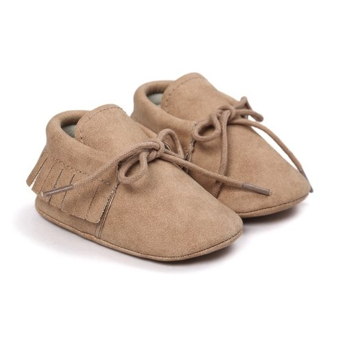 This Cuteness Baby Mocassins Leather Beige